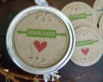 Mason Jar Labels, Homemade Food Labels, Jar Stickers, Mason Jar Lid Inserts, Gifts in a Jar Tags, Canning Jar Labels