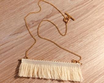 Long necklace mi ivory boho