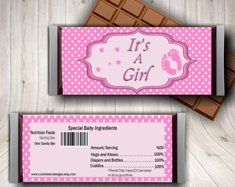 It's A Girl Candy Bar Wrapper, Baby Shower Favors, Girl Baby Shower, New Baby, Shower Party, Baby Shower Decor, Oh Baby, Girl Shower Favor