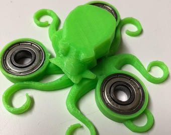 Neon Green Octopus Spinner