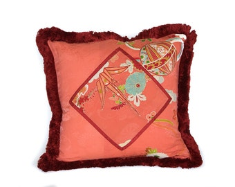 Silk Kimono Pillows - 18 inch Pillows filled with goose feathers