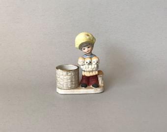 Vintage Votive Holder, porcelain votive holder, vintage candle holder, little boy votive holder, gift for boy, Little Luvkins votive holder