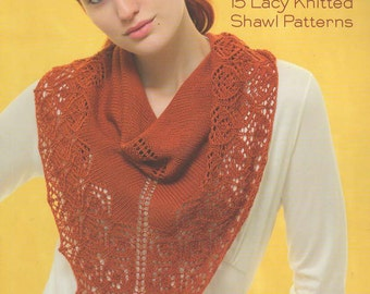Sock Yarn Shawls Knitting Book by Jen Lucas -- 15 Lacey Knitted Shawl Patterns