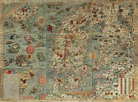 Map world map antique world map world map poster old world like this item sciox Choice Image