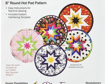 Plum Easy Folded Star Hot Pad Instructions and Extra Templates