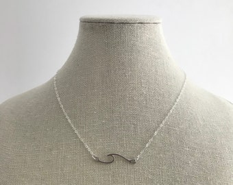 NEW - Stirling Silver Wave Necklace