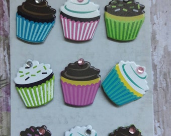 Cupcake Bling Brads Paper Craft & Scrapbooking Supplies