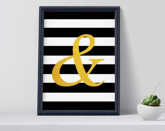 Ampersand poster, ampersand,  art print, digital print, home decor, wall decoration, gift for her