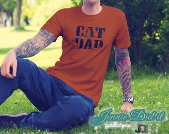Cat Dad Tshirt, Cat Lover Tshirt, Cat Guy shirt, Cat Dude Shirt, Cat Dad Shirt, Cat Lover Gift Idea, Shirts for men who love cats, Cat Shirt