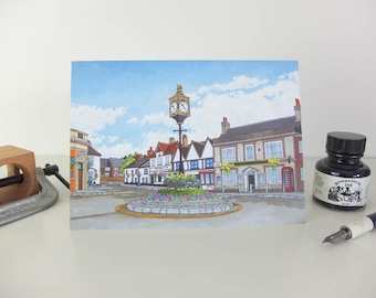 Greeting Card: St George's Square, Bishops Waltham