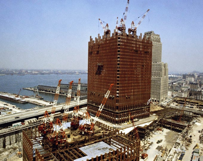 World Trade Center Under Construction in 1969 - 8X10 or 11X14 Photo (FB-366)