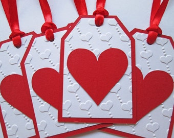 Valentines Day Gift Tags, Wedding Favor Tags, Valentine Tags, Valentine Gift Tags, Thank You Gift Tags