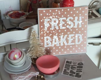 "Fresh Baked Cookie Bakery Art Canvas 2"" x 2"""