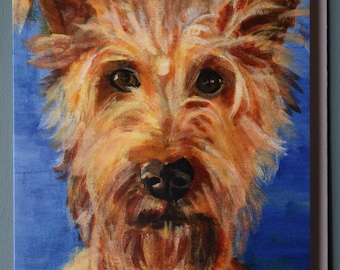 IRISH TERRIER  Blank Greetings Card from original acrylic artwork by Sara Tuckey