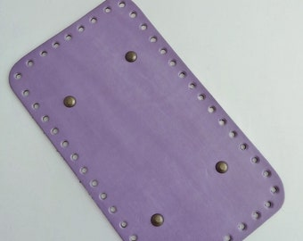 Bottom of bag faux leather purple wisteria. REF E.207. Drilled special trapilho