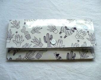Lama et Cactus portefeuille pour les femmes, couvercle en plastique, fermeture portefeuille, Slim portefeuille de voyage de 7 pouces, filles de l'obtention du diplôme de cadeau, poids léger