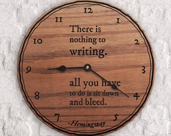 Gifts for Writers - Quotes on Writing - Quotes from Ernest Hemingway - Gifts for People Who Love to Write - Unique Writers Gifts - Hemingway