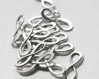 14pcs Oxidized Silver Tone Base Metal Links-Infinity charm 24x8mm (13018Y-H-172A)