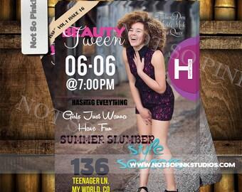 Sweet Sixteen Magazine Invitation