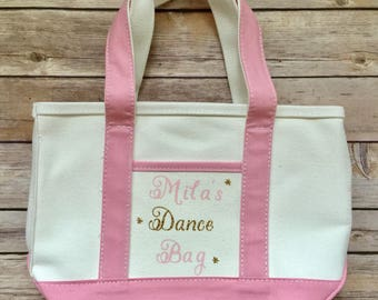 Personalized Kid's Dance Tote Bag, Customized Kid's Dance Tote Bag, Monogram Kid's Tote Bag, Do It Myself Bag