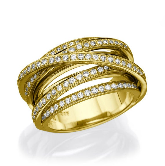1 12 Carat Diamond Wedding Band Statement Ring Multi Row