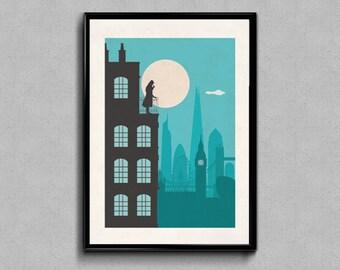 Sherlock Holmes print, Sherlock Holmes, Sherlock, Sherlock art, Sherlock print, Sherlock poster, Sherlock gift, illustration, nursery