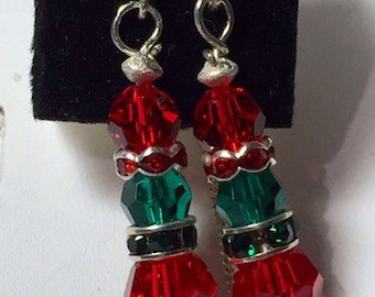 Christmas dangle earrings