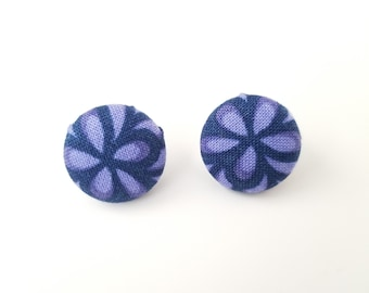 Button Earrings, Covered Button Earrings, Covered Button Jewelry, Button Jewelry, Fabric Earrings, Fabric Jewelry, Gifts for mom