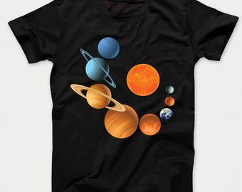 Planets Of Our Solar System Outer Space Science Kids T-Shirt