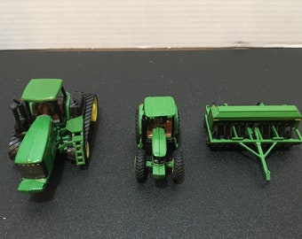 JOHN DEERE Toy Tractor with Tracks 9420T and Small Tractor