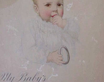 """Adorable Baby Book Dated """"1916""""-Never Used-Beautifully Illustrated"""