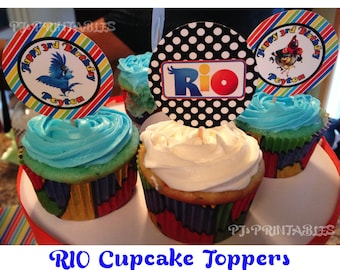RIO Cupcake Toppers- Customized Digital File