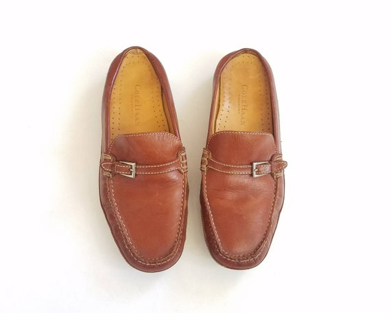 Vintage Country Leather Preppy Cole Oxfords Haan Spring Brown Dress 8 Fashion Monk Slides Boho Hipster Loafers Womens Casual Strap rqwPIr