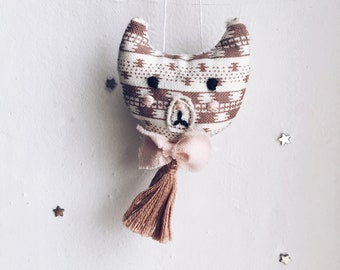 Brooch Cat Embroidery Handmade Soft Toy