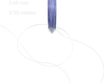 Steel cable wrapped 0.45 mm VIOLET 55 M roll