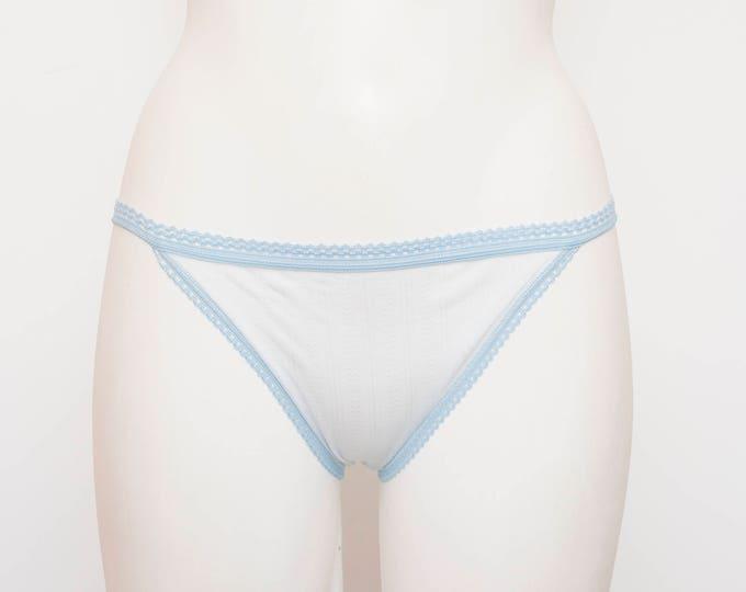 70s panties blue sheer dead stock Vintage