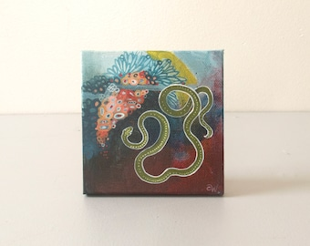 Twenty Eight: Small Abstract Snake Painting