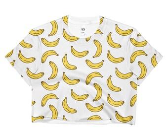 Banana Crop Top, Festival, Festival Clothing, Vegan, Vegan Clothing, Vegan Gift, Banana, 90s Clothing, Grunge Clothing, Hippie, Boho, Gypsy