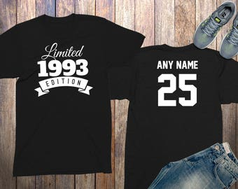 25th Birthday Gifts For Men Shirts 25 Year Old 1993 Shirt