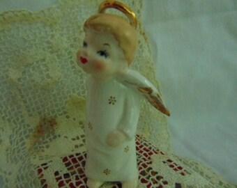 Angel, Kissing Angel, Ceramic Girl, Sling Shot, Funny Angel, Child Angel
