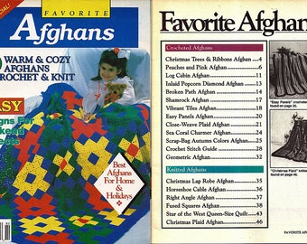 Favorite Afghans Easy Designs for weekend Projects / Crochet and Knit Pattern Book House of White Birches