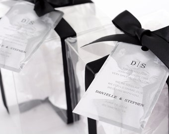 Black & White Photo Wedding Tags - Wine Bottle Tags, Favor Box Tags, Bag Tags - Personalized Wedding Favor Tags - Hanging Tags