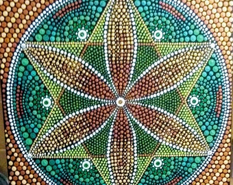 Flower mandala painting