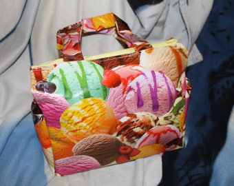 Oilcloth patterns meal bag multicolor ice balls