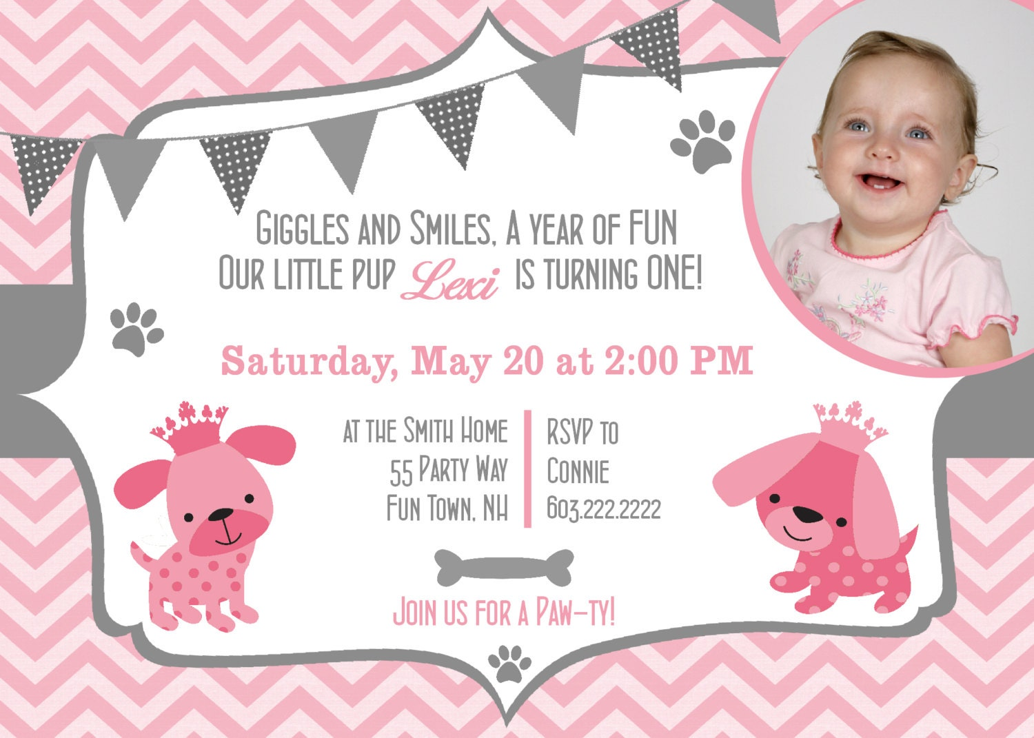 princess first birthday party invitations - Acur.lunamedia.co