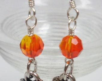 Handmade Jewelry:Koi Fish Charm Earrings 1211713ES