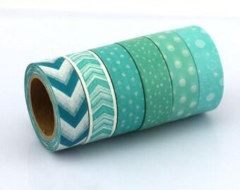 Decorative Masking Washi Tape Set Of 6