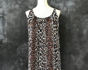 Vintage 1960's leopard print babydoll nightie Mr PJ