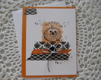 Handmade Greeting Card: Pumpkin Halloween