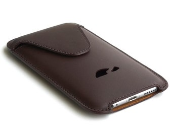 iphone 7 leather pouch case